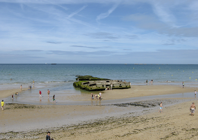 The beach at Arromanches in Normandy - 7 Places to Visit in France That Aren't Paris - The Trusted Traveller