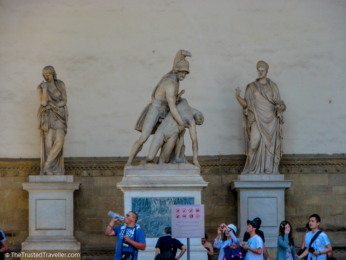 An abundance of statues in the Piazza della Signoria - Things to Do in Florence - The Trusted Traveller