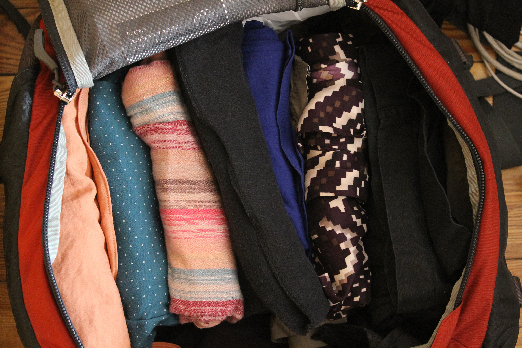Roll your clothes - Your Packing Tips - The Trusted Traveller