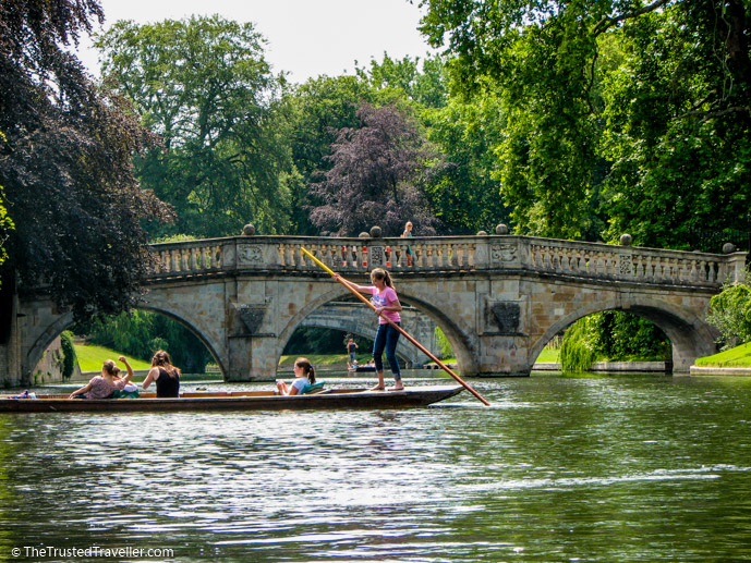 Punting on the River Cam, Cambridge - See the Best of England: A Three Week Itinerary - The Trusted Traveller