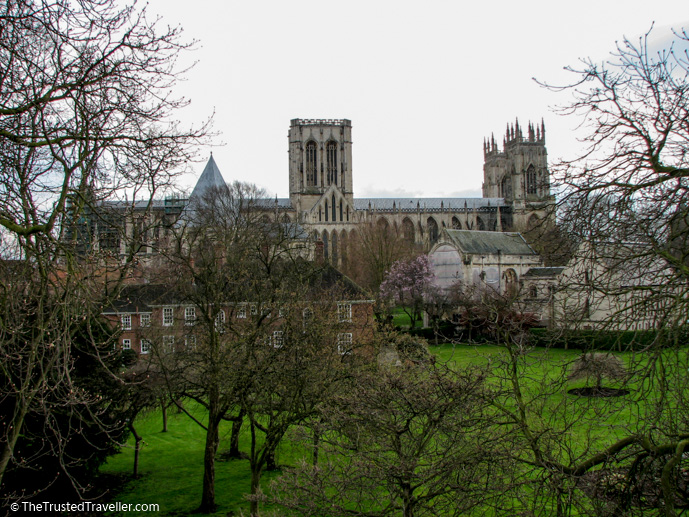 View of the Cathedral form the City Walls, York - See the Best of England: A Three Week Itinerary - The Trusted Traveller