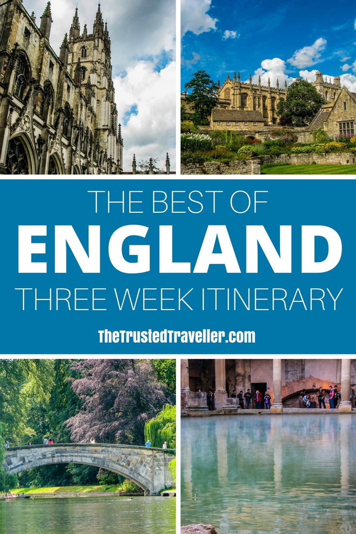 See the Best of England: A Three Week Itinerary - The Trusted Traveller