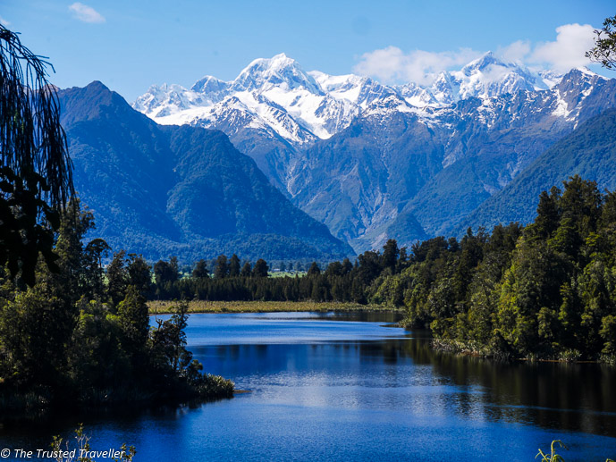 Lake Matheson with the Mt Cook reflection - The 10 Most Stunning Lakes on New Zealand's South Island - The Trusted Traveller