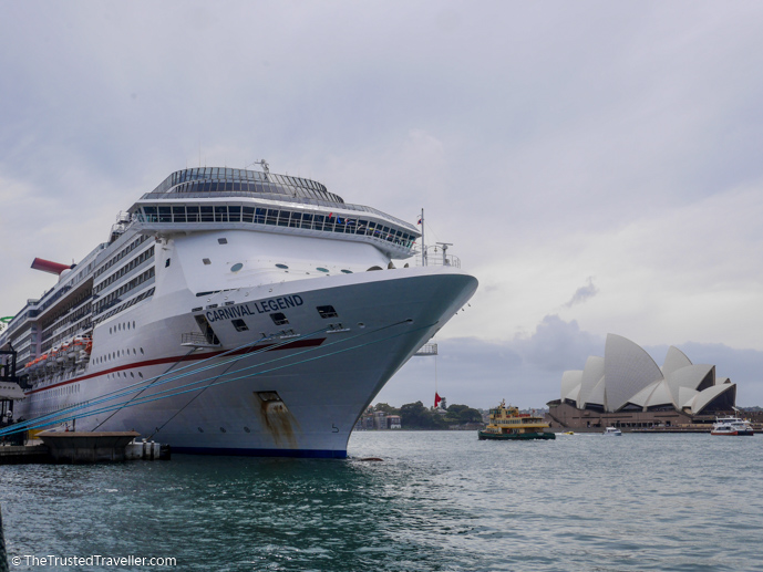 The Carnival Legend docked in Sydney - Cruise to Nowhere: 7 Reasons Why We Loved It - The Trusted Traveller