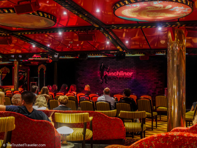 The comedy theatre on the Carnival Legend - Cruise to Nowhere: 7 Reasons Why We Loved It - The Trusted Traveller