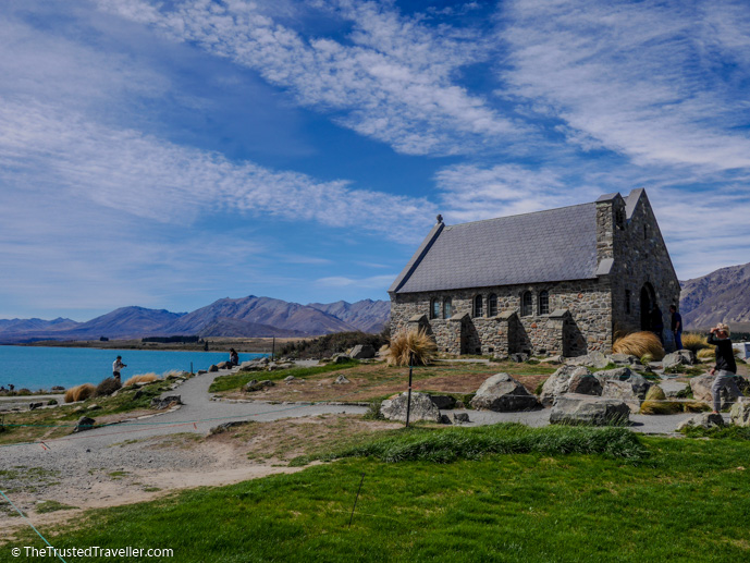 The Church of the Good Shepherd on Lake Tekapo - The 10 Most Stunning Lakes on New Zealand's South Island - The Trusted Traveller