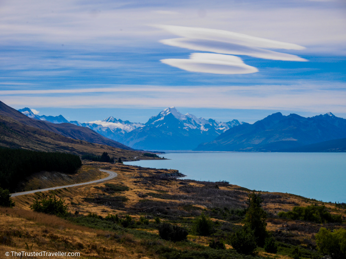 Stunning lake and mountains views on the Lake Pukaki Track - Things to Do in New Zealand's Mackenzie Basin - The Trusted Traveller