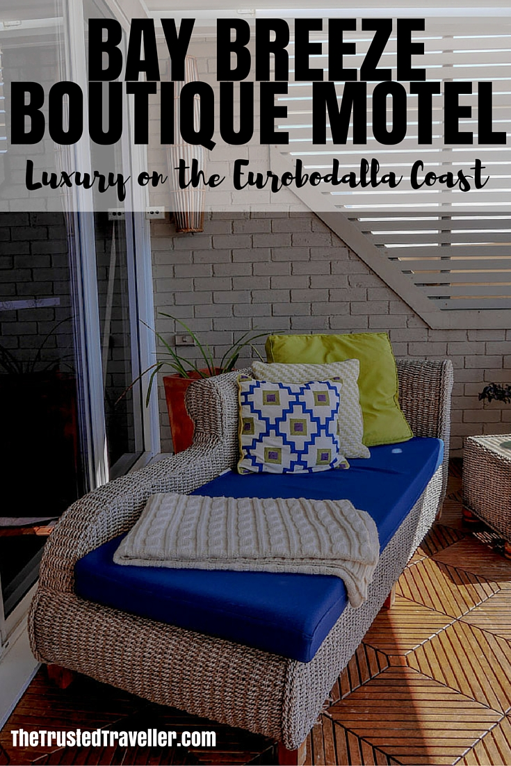 The perfect place to relax on the terrace - Bay Breeze Boutique Motel: Luxury on the Eurobodalla Coast - The Trusted Traveller