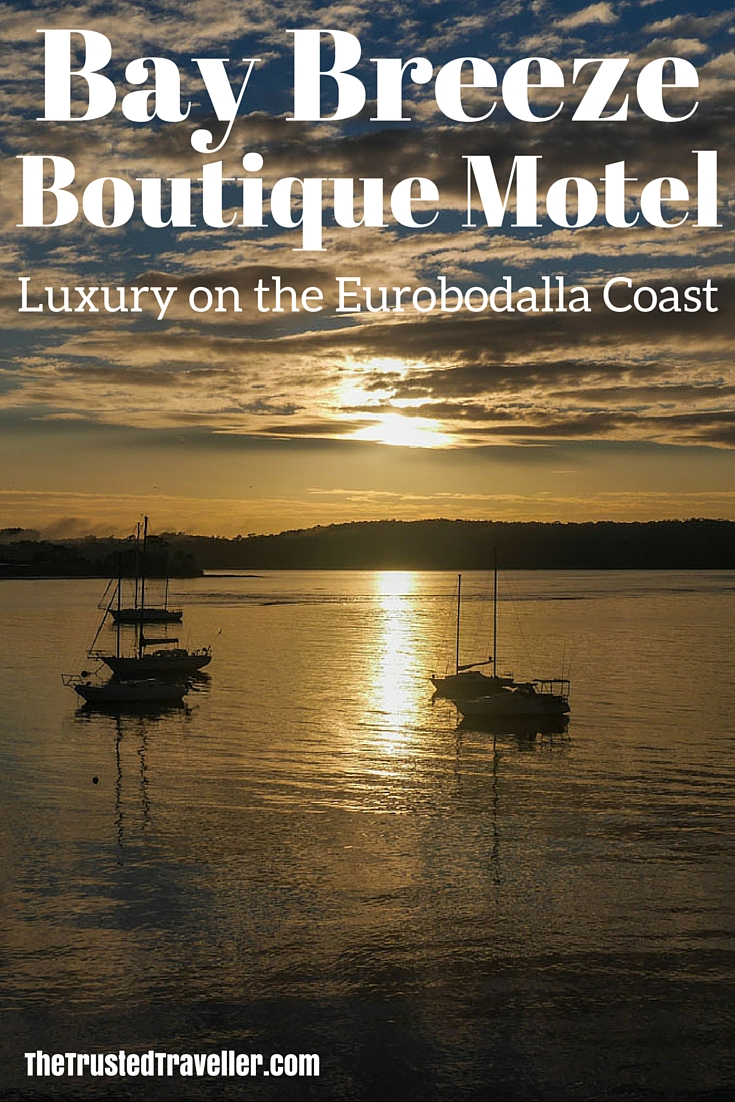 Sunset on the terrace - Bay Breeze Boutique Motel: Luxury on the Eurobodalla Coast - The Trusted Traveller
