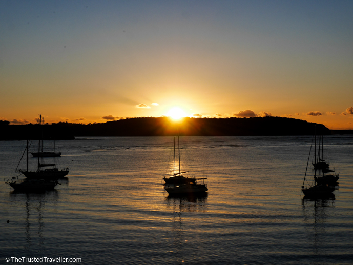 Sunrise on the terrace - Bay Breeze Boutique Motel: Luxury on the Eurobodalla Coast - The Trusted Traveller