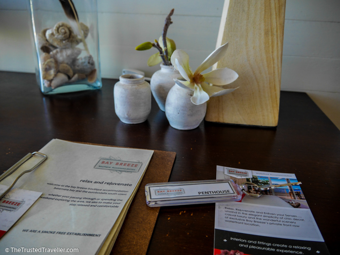Attention to the little details is one of the things that made our stay special - Bay Breeze Boutique Motel: Luxury on the Eurobodalla Coast - The Trusted Traveller