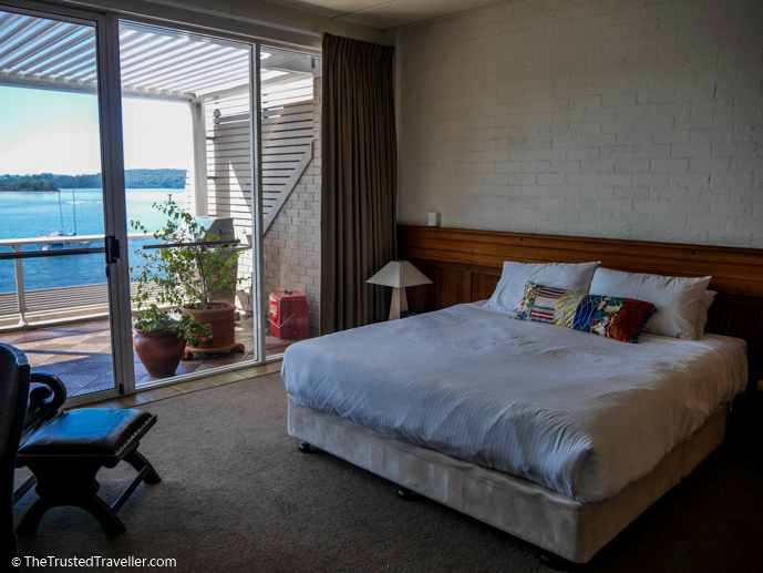 The spacious master bedroom - Bay Breeze Boutique Motel: Luxury on the Eurobodalla Coast - The Trusted Traveller