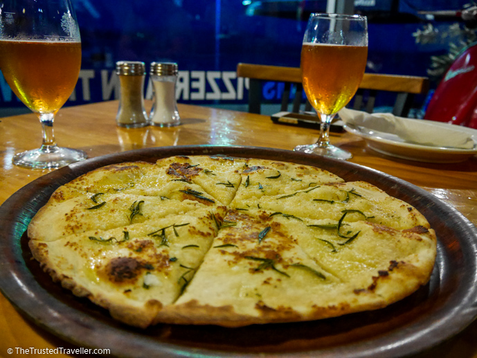 Our starter: Garlic Pizza Crust with Rosemary and Sea Salt - 7 Eurobodalla Culinary Delights That Should Not to Be Missed - The Trusted Traveller