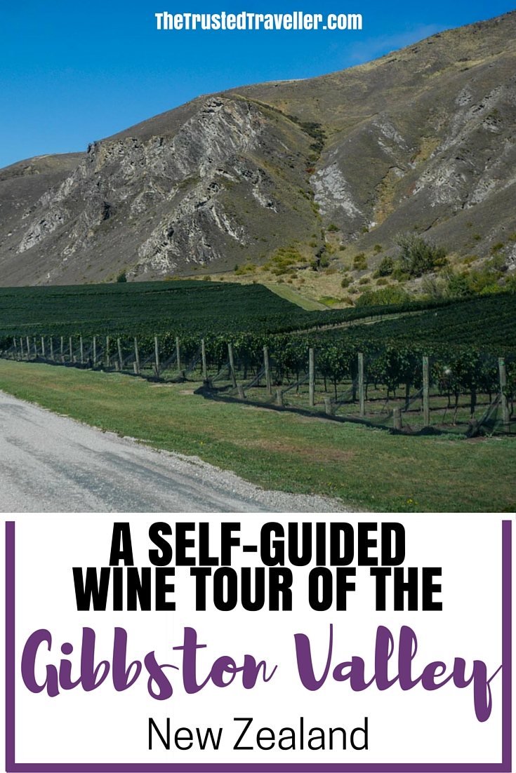 VIneyards with a mountain backdrop - Self Guided Wine Tour of the Gibbston Valley, New Zealand - The Trusted Traveller
