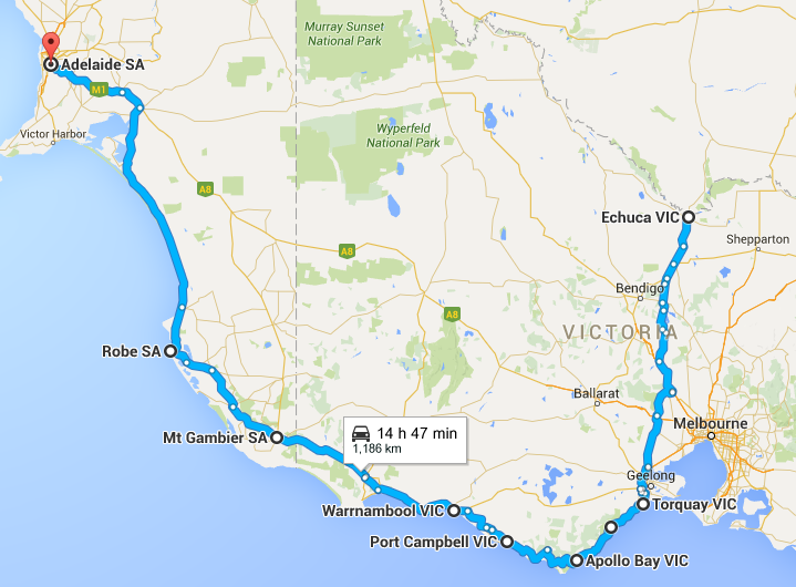 Map of where we have been - How Much it Costs to Drive Around Australia – Month 2 - The Trusted Traveller