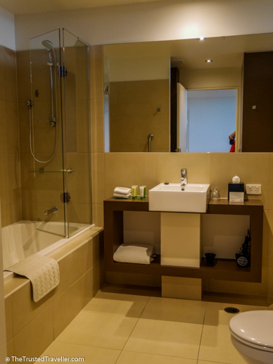 Spacious modern bathroom - Wyndham Resort Torquay: Surf Coast Comfort - The Trusted Traveller