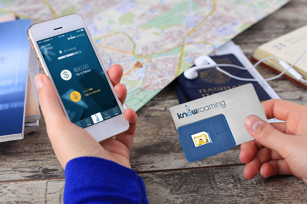 The KnowRoaming Global SIM Sticker - International Roaming Made Easy with KnowRoaming - The Trusted Traveller