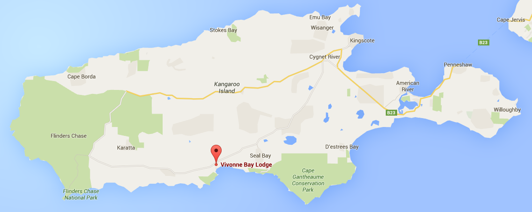 Location map of Vivonne Bay Lodge - Vivonne Bay Lodge: Kangaroo Islands Best Flashpacker Accommodation - The Trusted Traveller