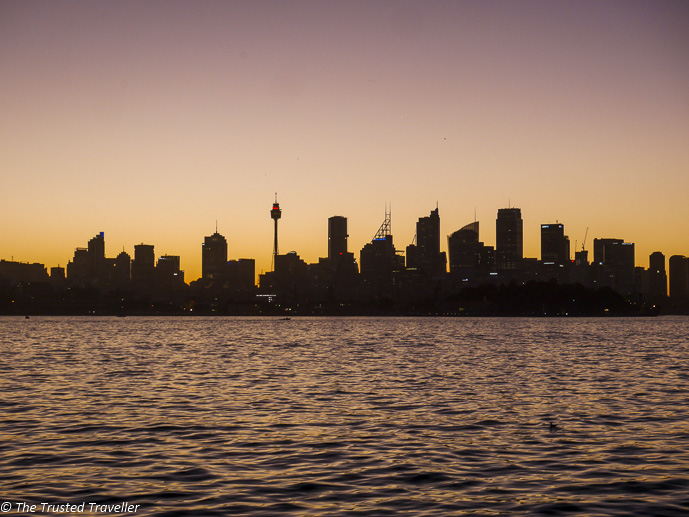 Sunsetting on Sydney Harbour as seen from the Manly Ferry - 48 Hours in Sydney: The Perfect Weekend Getaway - The Trusted Traveller