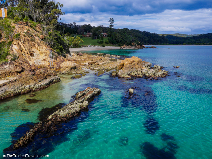 Aqua water off the Naval Wharf - How to Spend a Day in Ben Boyd National Park - The Trusted Traveller