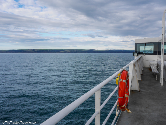 Cruise on the top deck on approach to Kangaroo Island - How to Get to Kangaroo Island (plus the best ways to get around) - The Trusted Traveller