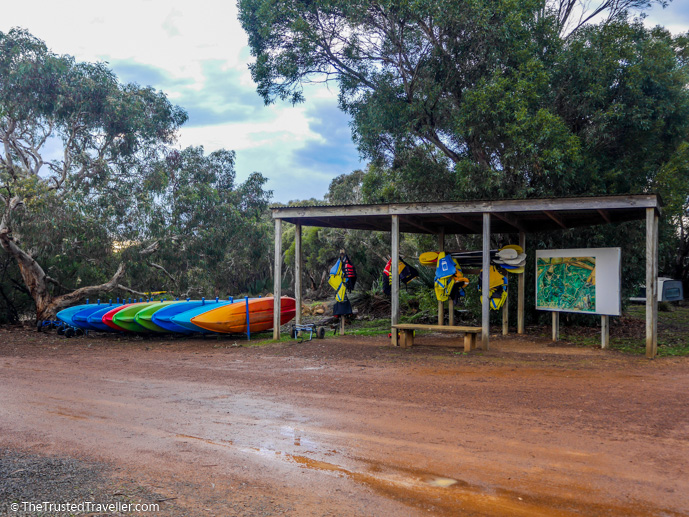 Free kayaks for guests use - Vivonne Bay Lodge: Kangaroo Islands Best Flashpacker Accommodation - The Trusted Traveller