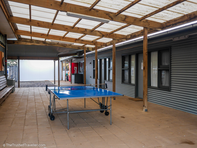 Table tennis in the covered outdoor area - Vivonne Bay Lodge: Kangaroo Islands Best Flashpacker Accommodation - The Trusted Traveller
