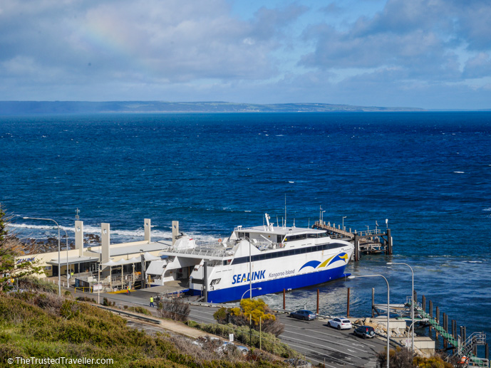 The SeaLink Kangaroo Island Ferry docked at Cape Jervis - How to Get to Kangaroo Island (plus the best ways to get around) - The Trusted Traveller