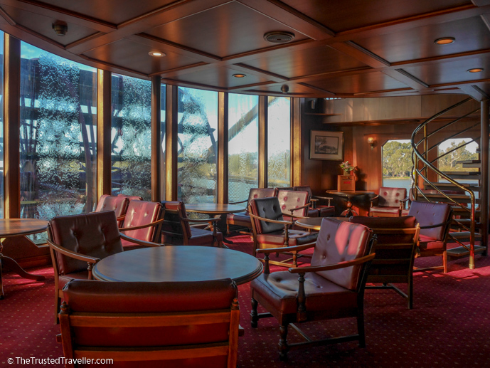 The Paddlewheel Lounge - Our Luxury Murray River Cruise Aboard the PS Murray Princess - The Trusted Traveller