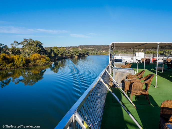 Enjoying the views from the Sundeck aboard the PS Murray Princess - Our Luxury Murray River Cruise Aboard the PS Murray Princess - The Trusted Traveller