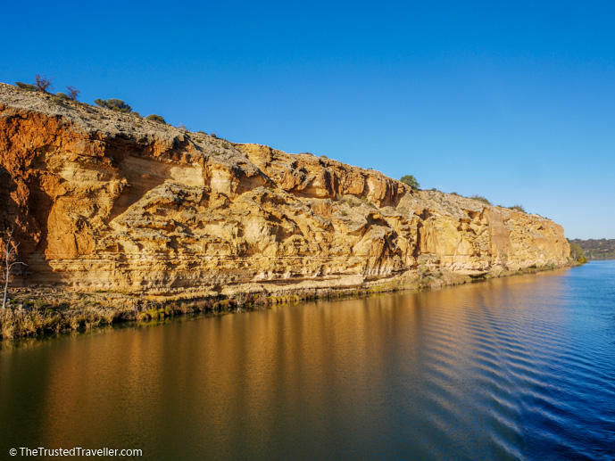 The massive cliffs that line the Murray River - Our Luxury Murray River Cruise Aboard the PS Murray Princess - The Trusted Traveller
