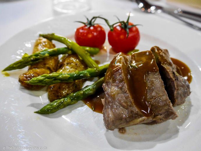 Grilled lamb with veg and saute potatoes - Our Luxury Murray River Cruise Aboard the PS Murray Princess - The Trusted Traveller