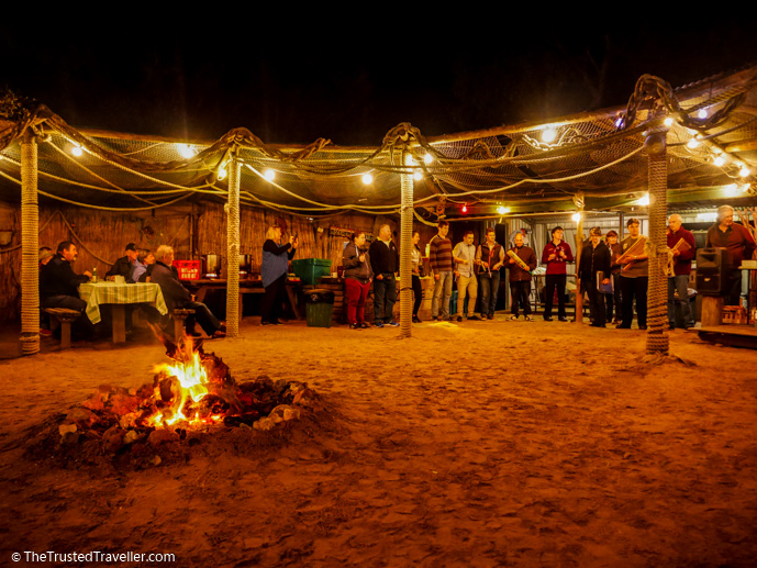 BBQ by campfire - Our Luxury Murray River Cruise Aboard the PS Murray Princess - The Trusted Traveller