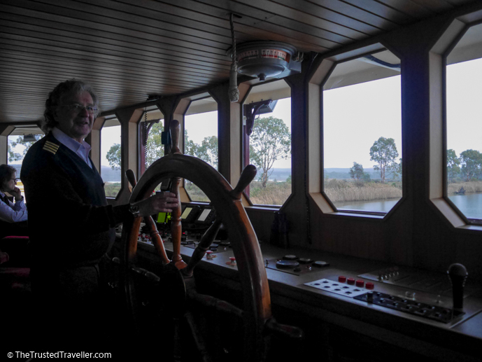 In the wheelhouse with Captain Keith - Our Luxury Murray River Cruise Aboard the PS Murray Princess - The Trusted Traveller