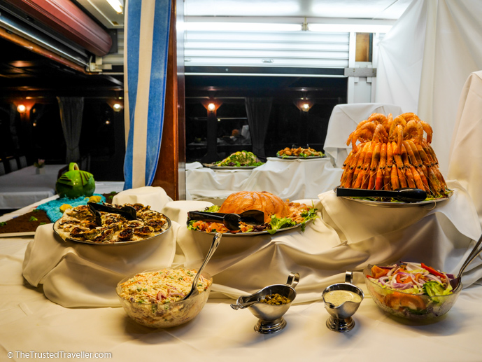 Seafood at the Captains Buffet - Our Luxury Murray River Cruise Aboard the PS Murray Princess - The Trusted Traveller