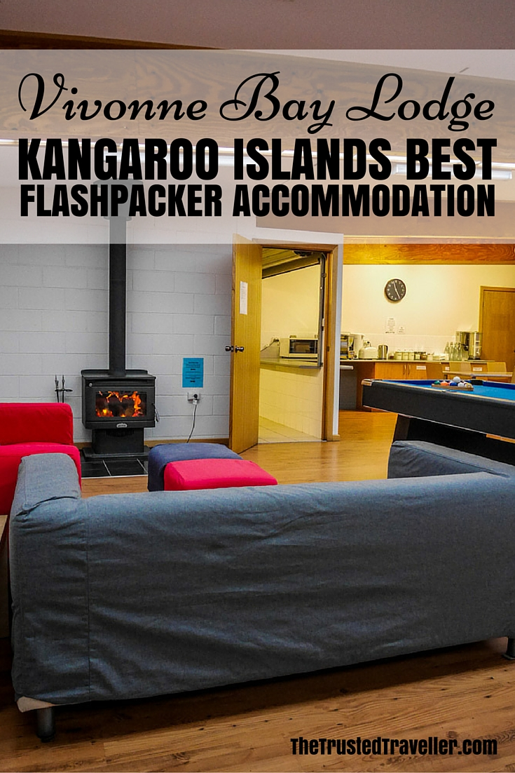 The cosy lounge/dining area complete with fireplace - Vivonne Bay Lodge: Kangaroo Islands Best Flashpacker Accommodation - The Trusted Traveller
