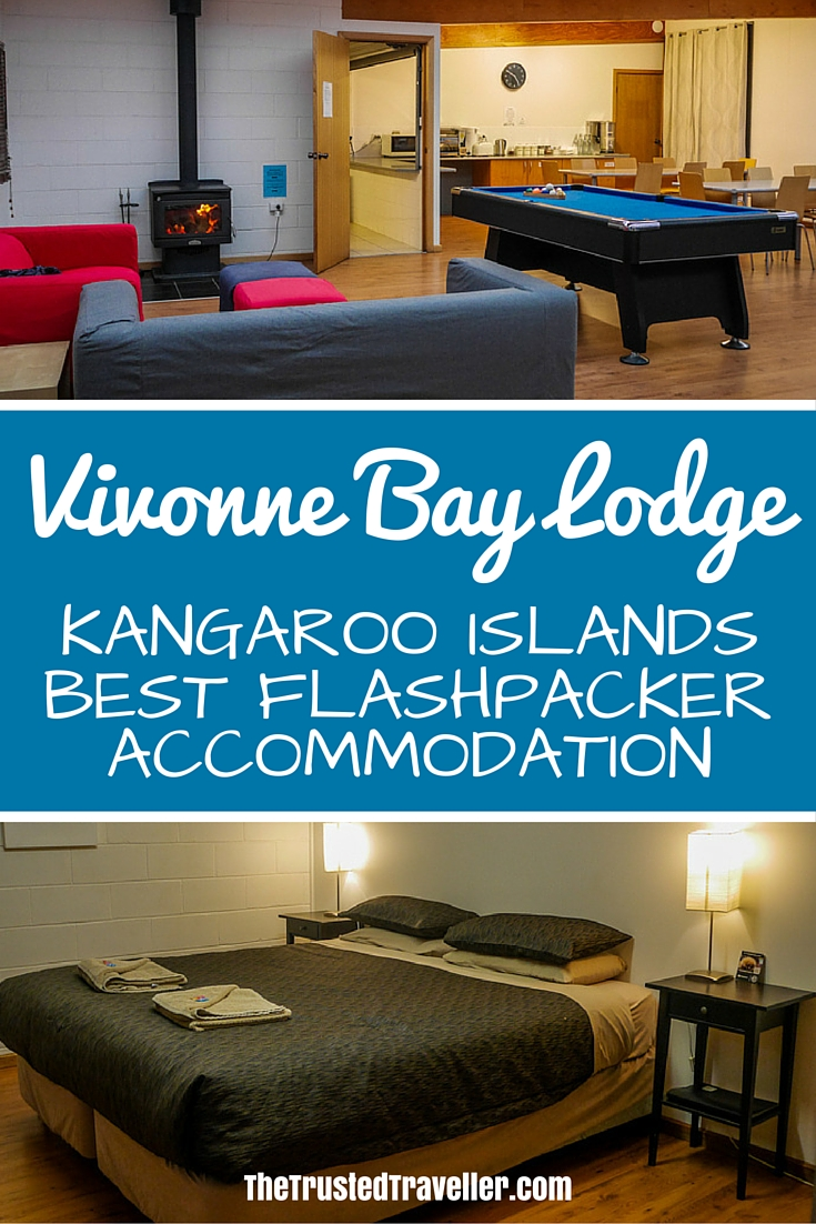 The cosy lounge/dining area complete with fireplace and the comfortable rooms - Vivonne Bay Lodge: Kangaroo Islands Best Flashpacker Accommodation - The Trusted Traveller
