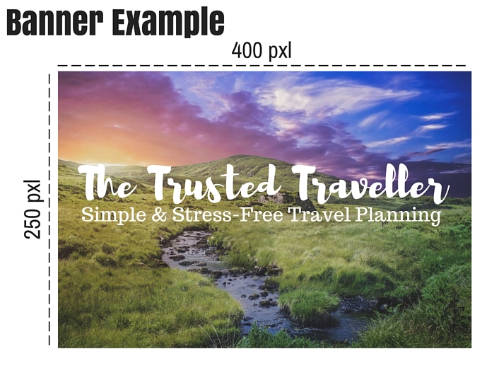 Banner Example for Travel Blog Advertising on The Trusted Traveller