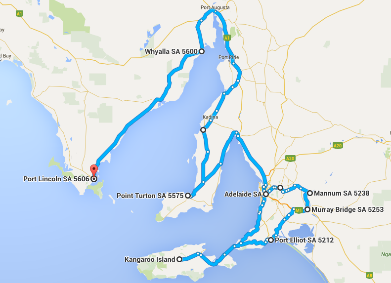 Map Around Australia.Our Month 3 Map How Much It Costs To Drive Around Australia