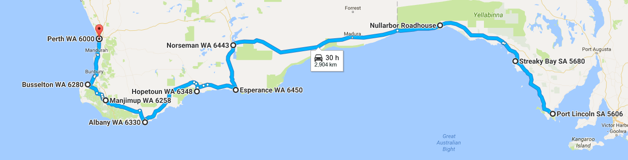 A map of where we went in month 4 - How Much it Costs to Drive Around Australia – Month 4 - The Trusted Traveller