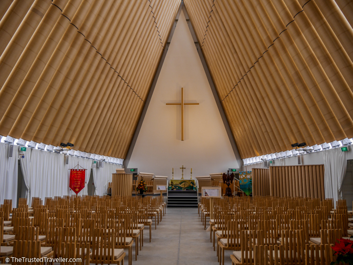 Cardboard Cathedral - Two Week New Zealand South Island Road Trip Itinerary - The Trusted Traveller