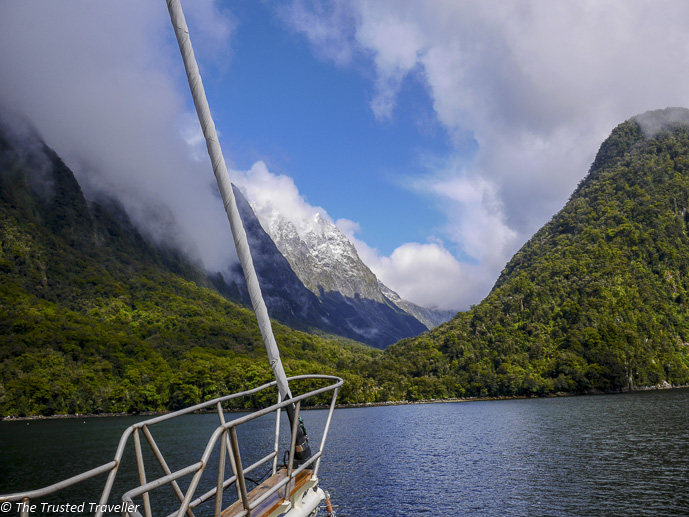 Cruising Milford Sound - Two Week New Zealand South Island Road Trip Itinerary - The Trusted Traveller