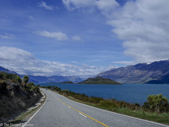 The road to Glenorchy - Two Week New Zealand South Island Road Trip Itinerary - The Trusted Traveller