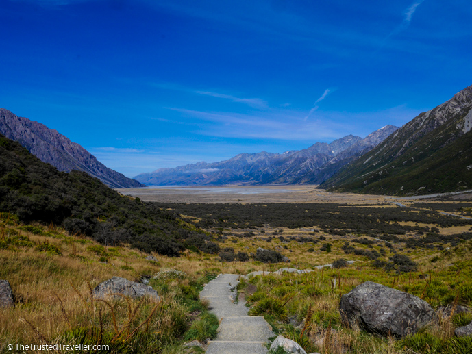Walking near Mt Cook - Two Week New Zealand South Island Road Trip Itinerary - The Trusted Traveller
