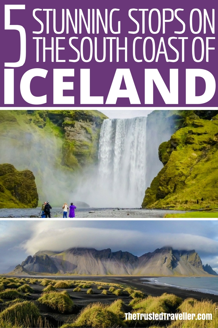 Epic waterfalls and stunning landscape - 5 Stunning Stops on the South Coast of Iceland - The Trusted Traveller