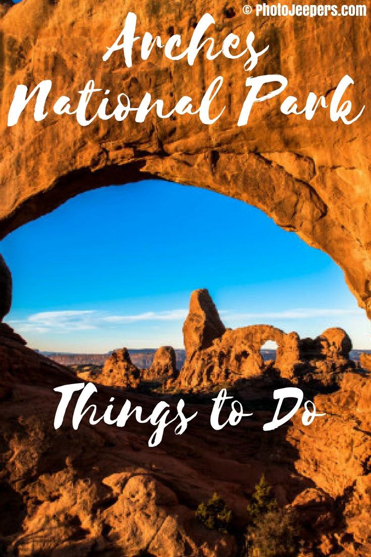 Turret Arch sunrise Arches National Park - 10 Things to Do in Arches National Park - The Trusted Traveller
