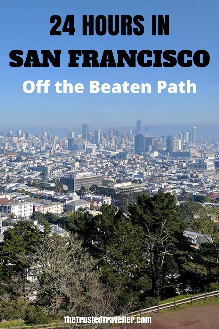 Visited San Francisco before? This 24 hour guide to the city will show you some of the best off the beaten places perfect for 2nd, 3rd (or more) time visitors - 24 Hours in San Francisco - The Trusted Traveller
