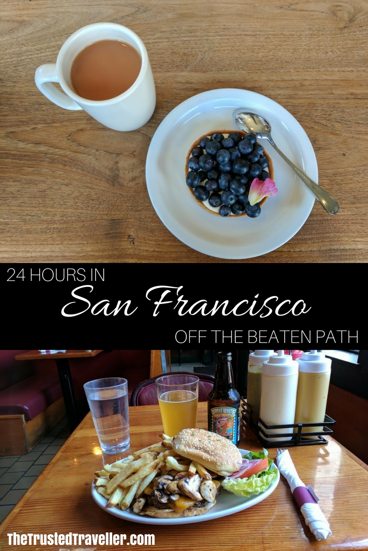 Food glorious food, San Francisco has it all. Check out some of the best off the beaten path eats in this 24 hour guide to the city - 24 Hours in San Francisco - The Trusted Traveller