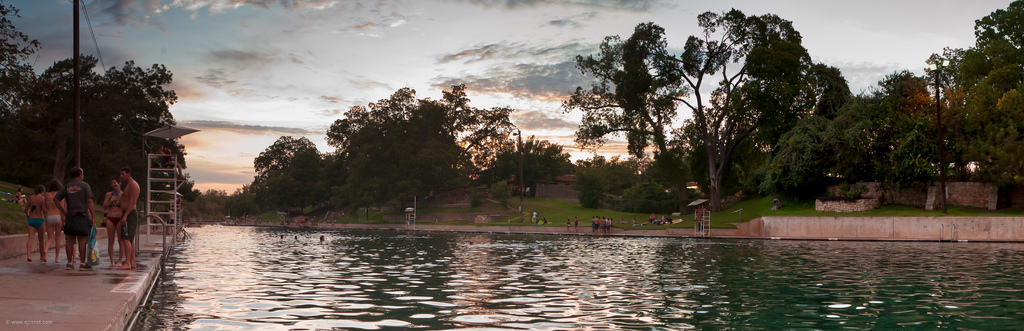 Barton Springs at Sunset - Planning a Trip to Austin, Texas - The Trusted Traveller