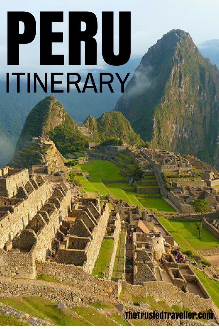 Macchu Pichu, just one of the many incredible place to see in Peru - The Ultimate Peru Itinerary - The Trusted Traveller